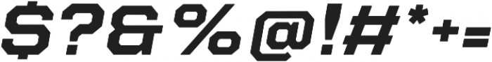 Refinery 95 Bold Italic otf (700) Font OTHER CHARS