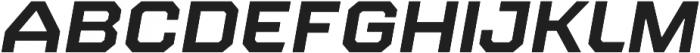 Refinery 95 Bold Italic otf (700) Font UPPERCASE