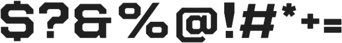 Refinery 95 Bold otf (700) Font OTHER CHARS