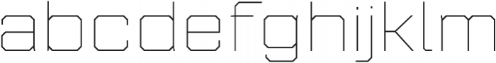Refinery 95 Hairline otf (100) Font LOWERCASE