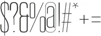 Reformer Light otf (300) Font OTHER CHARS
