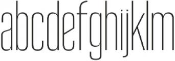 Reformer Light otf (300) Font LOWERCASE