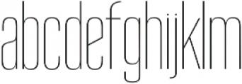 Reformer Thin otf (100) Font LOWERCASE
