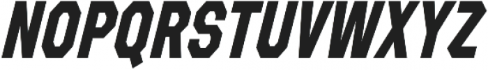 Refuel Condensed Bold Italic otf (700) Font UPPERCASE