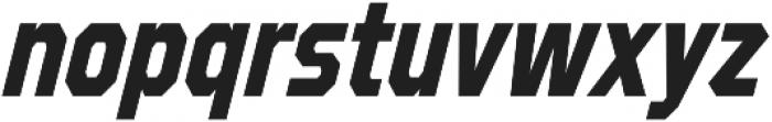 Refuel Condensed Bold Italic otf (700) Font LOWERCASE