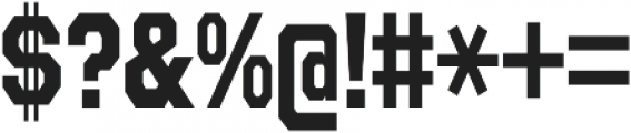 Refuel Condensed Bold otf (700) Font OTHER CHARS
