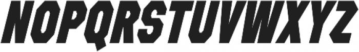 Refuel Condensed ExtraBold Italic otf (700) Font UPPERCASE