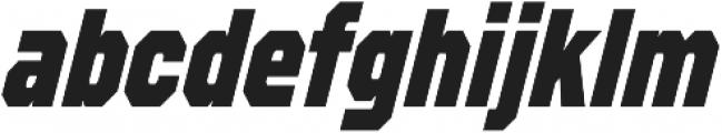 Refuel Condensed ExtraBold Italic otf (700) Font LOWERCASE