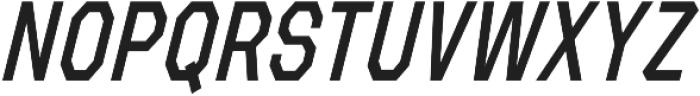 Refuel Condensed Regular Italic otf (400) Font UPPERCASE