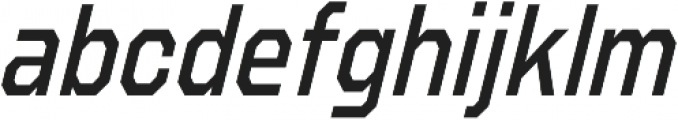 Refuel Condensed Regular Italic otf (400) Font LOWERCASE