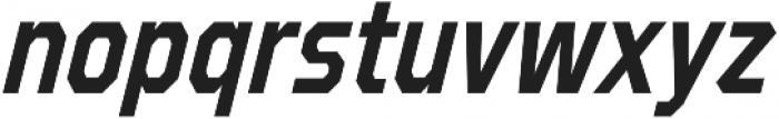 Refuel Condensed SemiBold Italic otf (600) Font LOWERCASE
