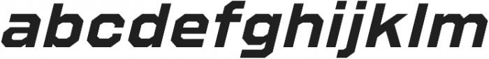 Refuel Expanded Bold Italic otf (700) Font LOWERCASE