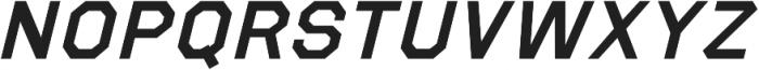 Refuel Expanded SemiBold Italic otf (600) Font UPPERCASE