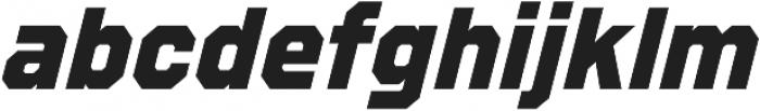 Refuel ExtraBold Italic otf (700) Font LOWERCASE