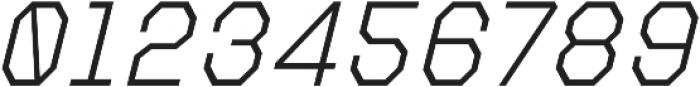 Refuel ExtraLight Italic otf (200) Font OTHER CHARS