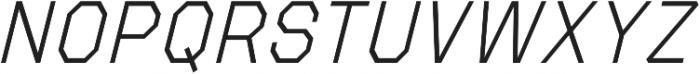 Refuel ExtraLight Italic otf (200) Font UPPERCASE
