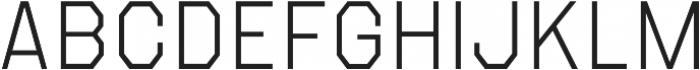 Refuel ExtraLight otf (200) Font UPPERCASE