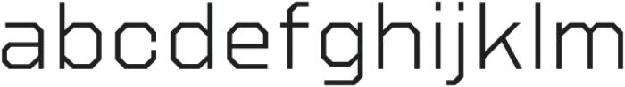 Refuel ExtraLight otf (200) Font LOWERCASE