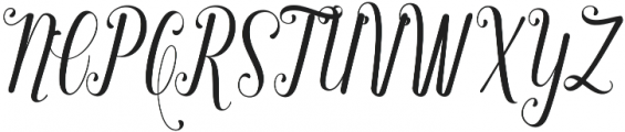 Regaled otf (400) Font UPPERCASE