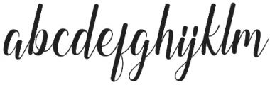 Regaled otf (400) Font LOWERCASE