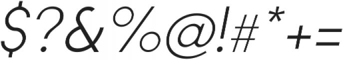 Regime Light Oblique ttf (300) Font OTHER CHARS