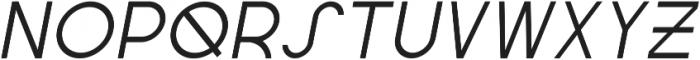 Regime Regular Oblique ttf (400) Font UPPERCASE