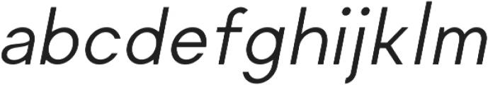 Regime Regular Oblique ttf (400) Font LOWERCASE