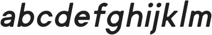 Regime Round Bold Oblique Round ttf (700) Font LOWERCASE