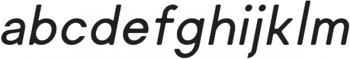 Regime Round Medium Oblique Round ttf (500) Font LOWERCASE