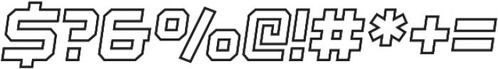 Regular Italic Outline otf (400) Font OTHER CHARS