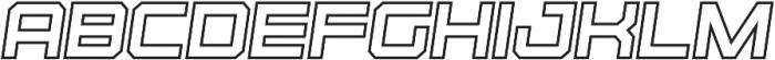 Regular Italic Outline otf (400) Font LOWERCASE
