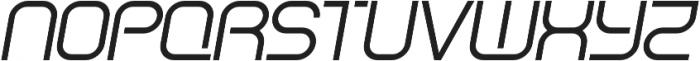 Regular Italic otf (500) Font UPPERCASE