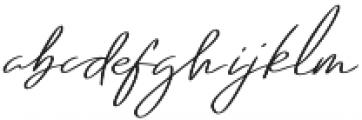 Regular X Sl otf (400) Font LOWERCASE