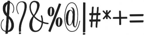 Regular otf (600) Font OTHER CHARS