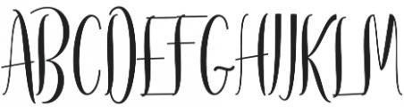 Regular otf (600) Font UPPERCASE