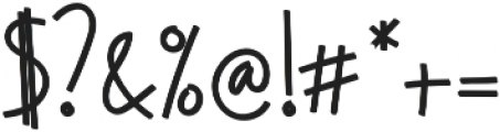 Regular otf (700) Font OTHER CHARS