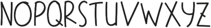 Regular otf (700) Font UPPERCASE
