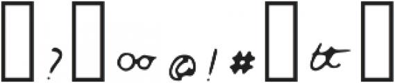 Regular ttf (400) Font OTHER CHARS
