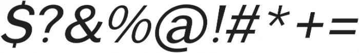 RegularItalic otf (400) Font OTHER CHARS