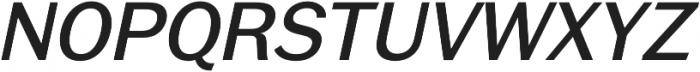 RegularItalic otf (400) Font UPPERCASE
