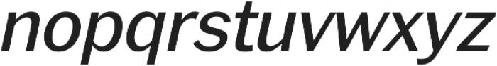 RegularItalic otf (400) Font LOWERCASE