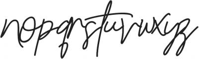 Reilly Beck ttf (400) Font LOWERCASE