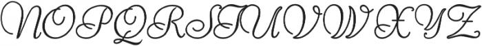 Reliant otf (400) Font UPPERCASE
