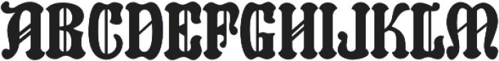 Reliquaire AOE Regular otf (400) Font UPPERCASE