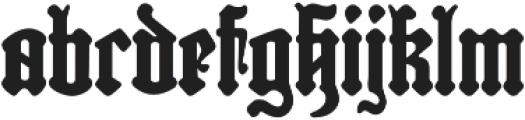 Reliquaire AOE Regular otf (400) Font LOWERCASE