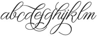 Rellista Script Regular otf (400) Font LOWERCASE