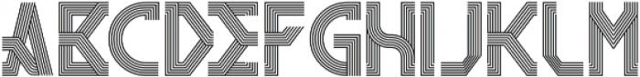 RemacoRegular ttf (400) Font UPPERCASE