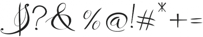 Remember Regular otf (400) Font OTHER CHARS