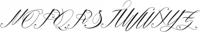 Remember Regular otf (400) Font UPPERCASE