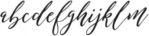 Remember Script ttf (400) Font LOWERCASE